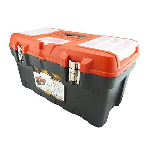 Werkzeugkoffer pro-carbon in 2 Größen Werkzeugkasten Werkzeugbox Werkzeugkiste (Groß 22'')