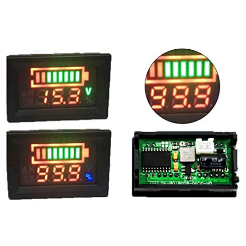 New 1pc 5-80V Capacity Indicator Digital Voltmeter Battery Percentage Monitor Dual LED Display Lithi...