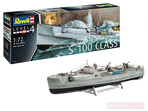 Revell Model Compatible con German Fast Attack Craft S-100 Kit 1:72 DIECAST RV05162