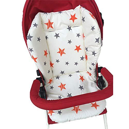 1 STÜCK Atmungsaktive Kinderwagen Sitzkissen Autositz Liner Hochstuhl Sitzkissen Liner Mat Baumwolle Sitzpolster Abdeckung Protector Für Baby Infant (Stern)