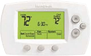 Honeywell Focuspro 6000 5-1-1/5+2-Day Programmable Thermostat, 1 Heat/1 Cool, Large