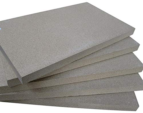 5x Vermiculit Brandschutzplatte Fireproof 1100 500x300x30 mm