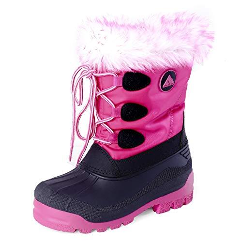 Nova Mountain Boys Girls Little Kids Winter Snow Boots,NF NFWBNN820 Fuchsia 1