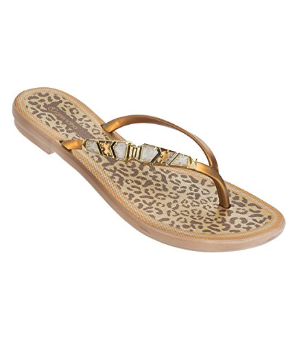 Grendha Damen Sandalen Zehentrenner Jewel Thong 81794, Farbe:Gold;Artikel:-8290 Gold;Schuhgröße:EUR 38