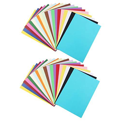 TOYANDONA 100St Kaartpapier Dikker Kleurrijk Dubbelzijdig Duurzaam Praktische Tekening Prop Tekenpapier Kaartpapier Voor Knutselwerk