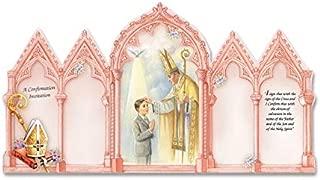Catholic & Religious Gifts, CONFIRMATION INVITATION BOY ENGLISH W/ENVELOPE 100/PKG