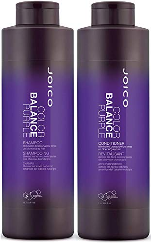 Joico Color Balance Purple Shampoo and Conditioner Set, 33.8-Ounce