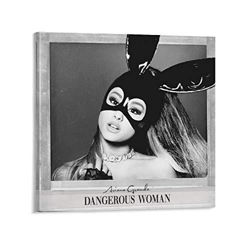XYDD Dangerous Woman, copertina, album da studio di Ariana Grande, poster decorativo su tela da parete per soggiorno, camera da letto, 40 x 40 cm