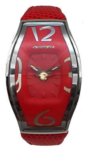 Chronotech Damen Analog Quarz Uhr mit Leder Armband CT7932L-14