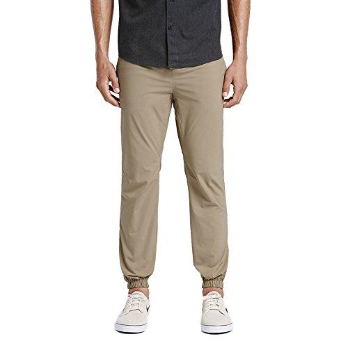 Hurley Men's Nike Dri-Fit Elastic Waist Jogger Pant, Khaki, XL
