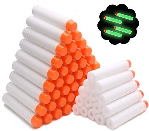 Airlab 100 Pfeile für Nerf N Strike Modulus Spielzeugblaster Kompatibler Pfeile Dart Bullets, Glow, weiß