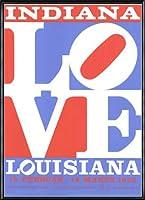 ポスター ロバート インディアナ Love louisiana 額装品 アルミ製ハイグレードフレーム(ブラック)