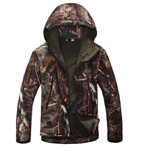 Sentao Homme Tactique Camouflage Veste Softshell Automne Hiver Doublée Blouson Imperméable Capuche Randonnée Chasse Manteau (Style#11, Asia 3XL)