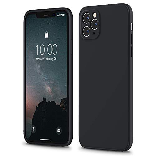 """SURPHY Cover Compatibile con iPhone 11 PRO, Custodia in Silicone per iPhone 11 PRO Cover Antiurto con Protezione Individuale per Ogni Lente, Full Body Case per iPhone 11 PRO 5.8"""" (2019) (Nero)"""