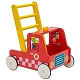 Andador de Madera, Andador Bebe Multifuncional, Camión de Bomberos Rojo Andador para 1-3 Años, Andador Actividades Bebe/Andador Bebe de Madera/Andador Bebé/Andador Bebe Madera