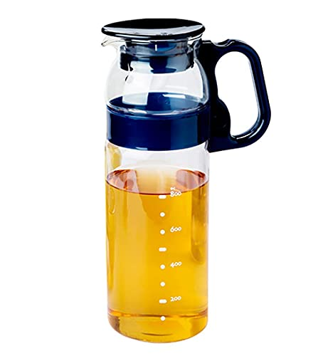 1.3L Water Jugs Transparent Juice Bottle Ice Cold Juice Carafe with Lid Jug Kettle for Red Wine Wine Juice Milk Ice Cold Water etc