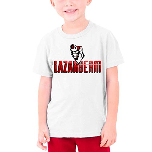 VJSDIUD Teenagers Lazarbeam Graphic Tees Divertido 3D Impreso Camisetas de Manga Corta para jóvenes Top Small
