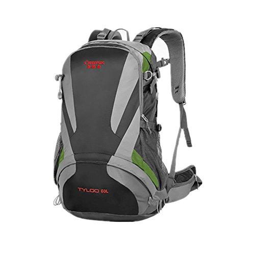 40L Professional Outdoor Escalade épaules sac à dos de randonnée imperméable unisexe voyage sacs à dos Sport Alpinisme Sac , black