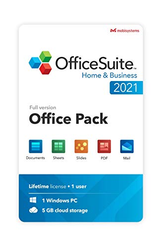 OfficeSuite Home & Business 2021 – Licence à vie – Documents, Sheets, Slides, PDF, Mail & Calendar pour 1 PC Windows