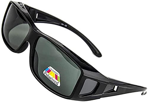 MRWW Hombres Estilo de Moda Espejo polarizado en Forma Rectangular sobre Gafas Gafas de Sol Gafas de Sol polarizadas para Hombres Gafas de Sol polarizadas