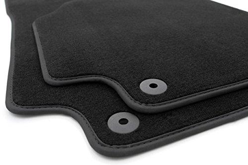 KH piezas felpudos/Terciopelo Auto Matte Original Calidad alfombrillas de plástico de 2piezas con borde de piel nubuck