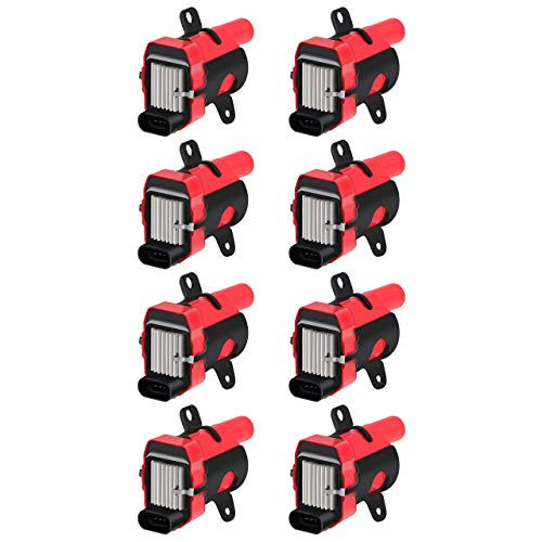 CarBole 8 Pcs D585 Ignition Coil Pack ROUND TYPE Fits for GMC Buick Hummer Isuzu Cadillac 4.8L 5.3L 6.0L 8.1L V8 Compatible with UF262 C1251 GN10119 10457730