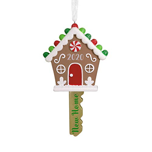 Hallmark Christmas Ornament 2020 Year-Dated, New Home Gingerbread House Key