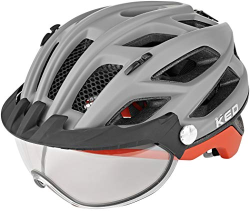KED Covis Photocromatic Helm Grey/red Matte Kopfumfang L | 55-61cm 2020 Fahrradhelm
