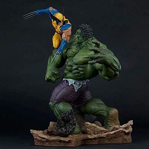 POIUYT Action-Figur Avengers Wolverine VS Hulk übergroße Statue Modell-Dekoration-Geschenk