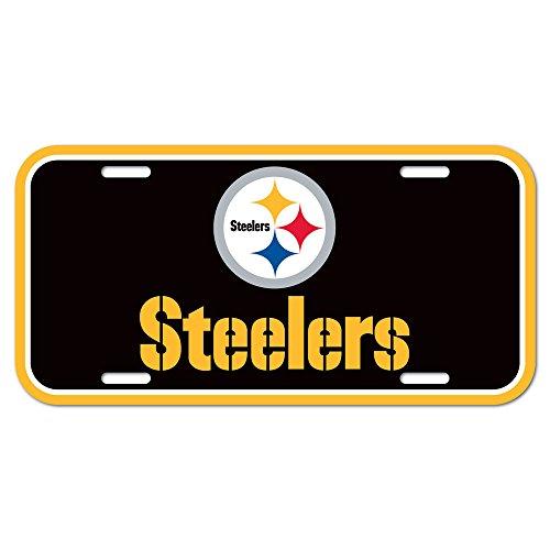 NFL Pittsburgh Steelers Nummernschild, Team-Farbe, Einheitsgröße