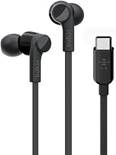 Belkin RockStar USB-C Headphones for Samsung Galaxy Note10, Note10+, S10, S10+, S10e, Google Pixel 3, 3XL, iPad Pro and mo...