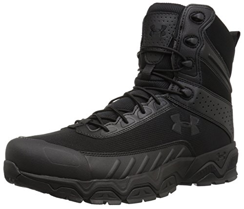 Under Armour Men's Valsetz Military and Tactical Boot, Black (001)/Black, 8.5