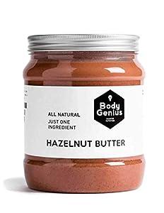 Body Genius Smarter Nutrition Manteca de Avellana, Sin Azúcar y Sin Sal - 1000 g