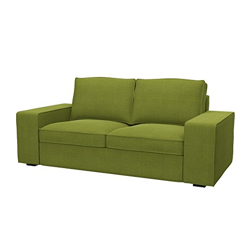 Soferia - IKEA KIVIK Funda para sofá de 2 plazas, Elegance Green