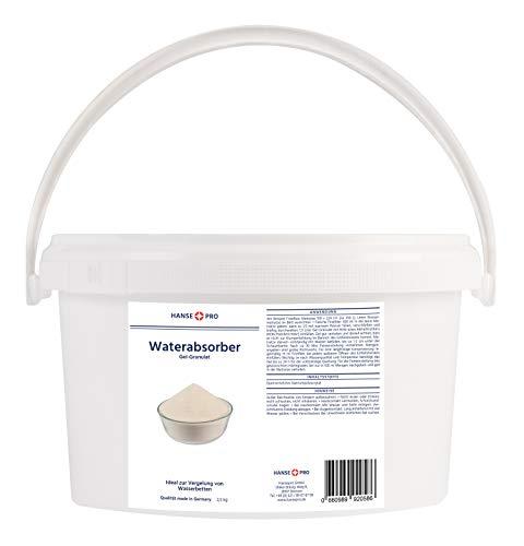 BFT Superabsorber Hansepro Gel-Granulat für Gelbetten & Wasserbetten, 2,5 kg I Vergelung von Wasserkernen I Gelierung I Beruhigt und verfestigt Wasserbetten-Matratzen