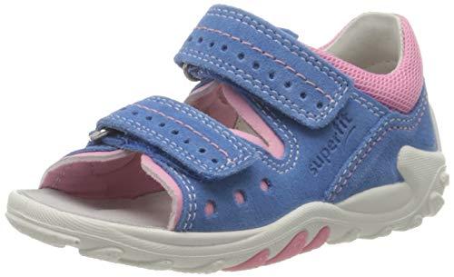 Superfit Baby Mädchen FLOW Sandalen, (Blau/Rosa 82), 19 EU