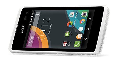 Acer Z220-Smartphone sbloccato da 4 (1,2 GHz, 1 GB di RAM e 8 GB di memoria interna, colore: bianco