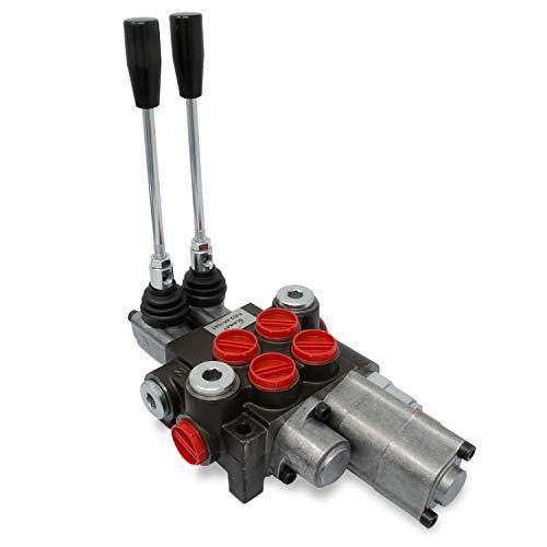 Monoblock Hydraulic Directional Control Valve, 2 Spool w/Single Float Detent, 11 GPM