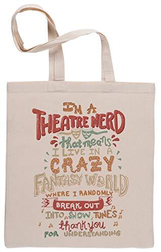I\'m Theatre Nerd Einkaufstasche Beige Shopping Bag Beige