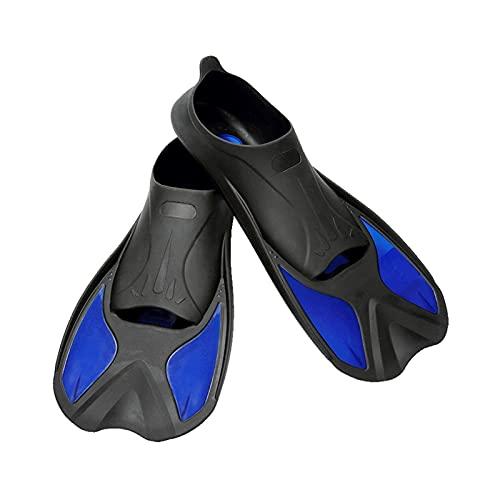 WangQianNan Pinne da Snorkeling Pinne da Bagno Snorkeling Alette Scuba Diving Pins Adulto e Bambini Attrezzatura da Sub per Immersioni e Nuoto (Color : Blue, Size : 34 to 35)