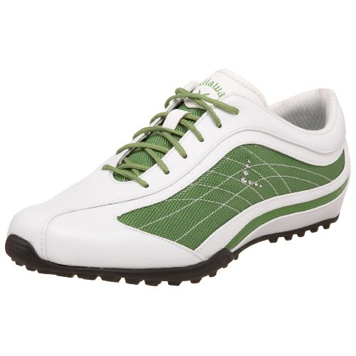 Callaway Women's Bliss Golf Shoe,White/Green,5.5 M US