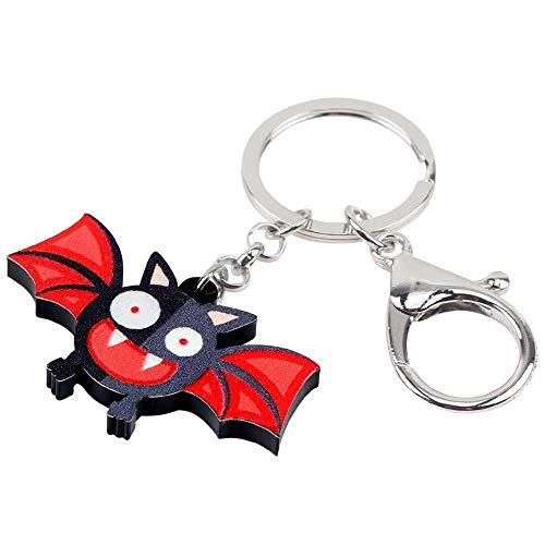 Llavero Acrílico Halloween Happy Bat Llaveros Llaveros Anillos Joyería Bonita De Anime Para Mujeres Niñas Bolso Barato Billetera De Coche Regalo Con Encanto