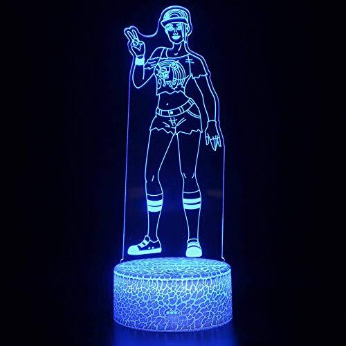 Luz de noche 3D para niño, luz mágica LED, control remoto que cambia de color, luz nocturna ilusión, el mejor regalo creativo para niños