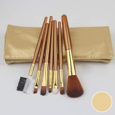 PoplarSun Maquillage de Professionnel Pinceaux for surligneur Eye cosmétiques Fond de Teint Poudre Ombre à paupières cosmétiques Professionnels Sourcils (Handle Color : Gold Color)
