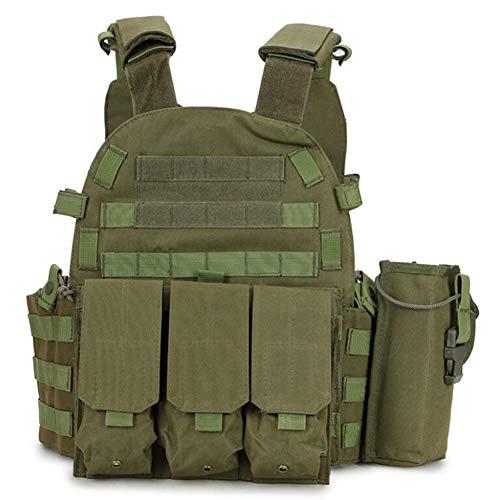 Taktische Weste, CS Outdoor-Kombinationsweste, wasserdichte und tragbare Trainings-Taktikweste - geeignet für die Jagd, das militärische Training, Spiele, CS (Armee grün)