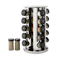 top rated Kamenstein Rotating Desktop Spice Rack Organizer 20 cans, 5 free spice refills … 2021