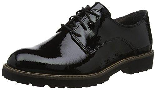Tamaris 23214, Scarpe Stringate Oxford Donna, Nero (Black Patent), 37 EU