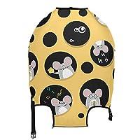 スーツケースカバー かわいい マウス 柄 (3) 伸縮素材 キャリーカバー ラゲッジカバー トランク お荷物カバー キズから保護汚れ傷防止 防塵カバー 通気性 おしゃれ 旅行 海外 弾力性 超軽い 洗濯可能 男女兼用 かわいい S -XL