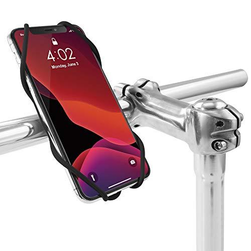 Bone 自転車 スマホ ホルダー シリコン製 三世代目新版 5.8〜7.2インチのスマホに対応 iPhone 11 Pro/11 Pro Max/11/XS/XR/X Xperia XZ3 Galaxy S10 S9 S8 Note 9 Pixel 3 XL 脱着簡単 脱落防止/Bike Tie 3 ハンドル用(ブラック)