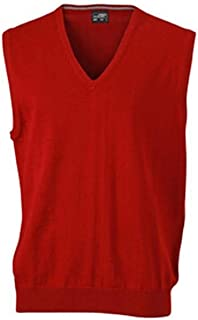 James and Nicholson Mens V-Neck Sweater Vest (Pack of 2)